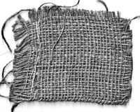 Pano da palha isolado na bandeira branca Foto de Stock