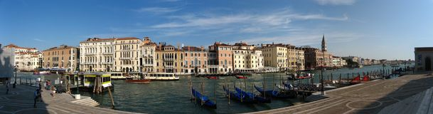 Pano de gondoles à Venise Images stock
