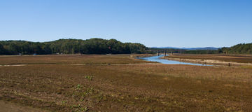 Pano de la sequía de Hartwell del lago Imagen de archivo