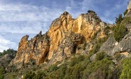 Pano de las rocas en St Felices foto de archivo