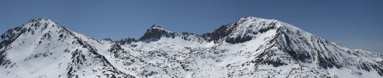 Pano de montagnes de l'Andorre Images stock