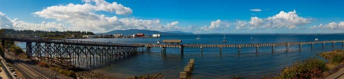 Pano de port de Bellingham Images libres de droits