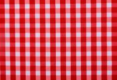Pano de tabela vermelho clássico Foto de Stock