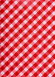 Pano de tabela vermelho clássico Fotos de Stock Royalty Free