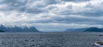 Pano del fiordo Fotografie Stock