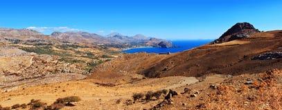 Pano dell'isola del Crete fotografia stock