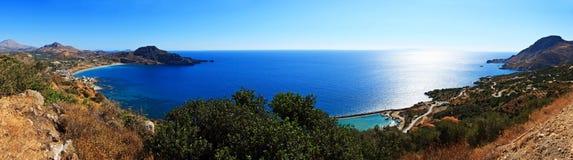 Pano della linea costiera del Crete immagine stock libera da diritti