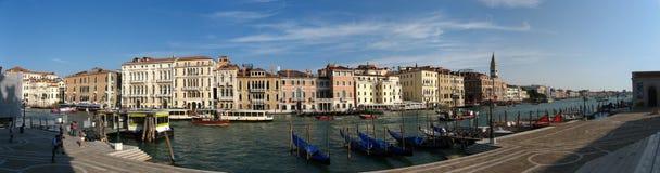 Pano delle gondole a Venezia Immagini Stock