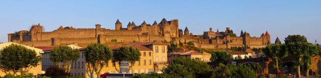 Pano di Carcassonne Fotografie Stock
