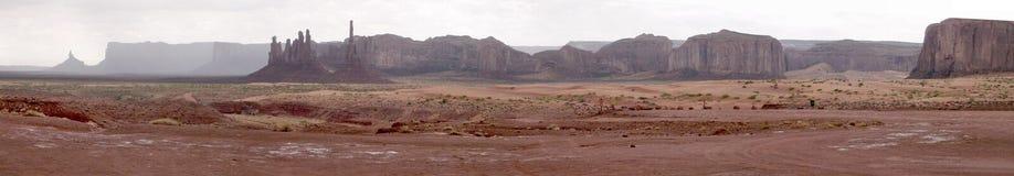 Pano do vale do monumento Fotos de Stock Royalty Free