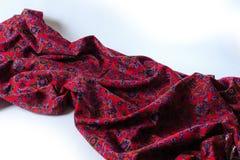 Pano drapejado elegante Fundo violeta da textura da tela fotos de stock royalty free