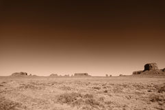 Pano landscape of monument valley, utah, usa Royalty Free Stock Photos