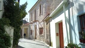 Free Pano Lefkara, Cyprus - March 03, 2020: Walking Through The Narrow Street Of Pano Lefkara Village. Larnaca District, Cyprus Royalty Free Stock Photo - 190850485