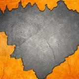 Pano preto na laranja Imagem de Stock