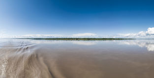 Panoramic Amazon river Royalty Free Stock Image