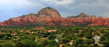 Pano rojo de las montañas de la roca de Sedona Az Imágenes de archivo libres de regalías