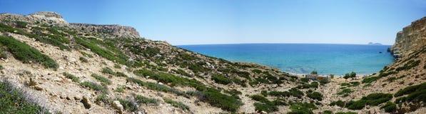 Pano rouge de plage Photo stock