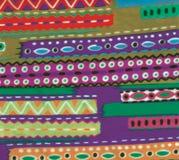 Pano roxo escocês do indiano do verde azul Foto de Stock