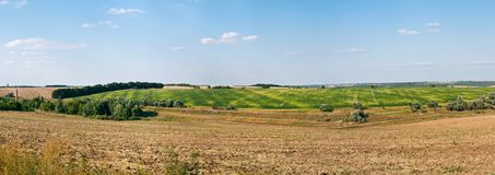 Pano of rural Landscape Royalty Free Stock Images