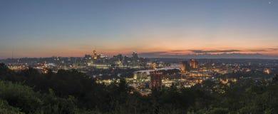 Pano skyline de Cincinnati do centro, Ohio Imagens de Stock