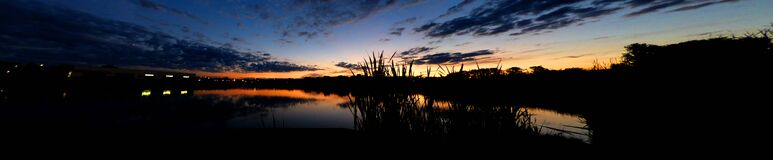 pano_sunset_2016.06.29 Royalty Free Stock Images
