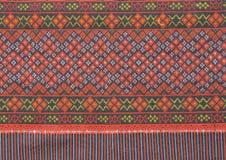 Pano tecido tailandês antigo Imagens de Stock Royalty Free