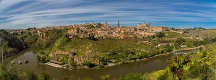 Pano of Toledo, Spain Royalty Free Stock Photo