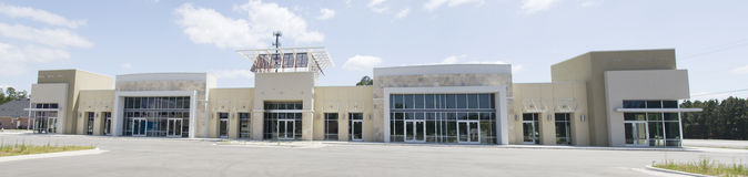 Pano van Earthtone storefronts royalty-vrije stock fotografie