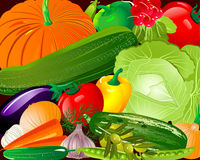 Pano vegetables Royalty Free Stock Images