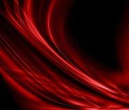 Pano vermelho abstrato do fundo ou ilustração líquida da onda de dobras onduladas do cetim da textura ou material ou vermelho de  Fotografia de Stock
