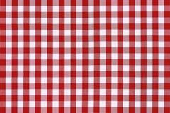 Pano vermelho detalhado do piquenique Fotos de Stock