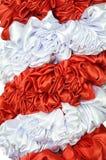 Pano vermelho e branco Fotografia de Stock Royalty Free