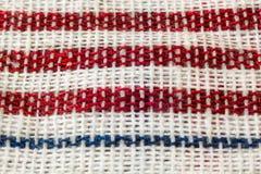 Pano vermelho reto do piquenique Fotografia de Stock Royalty Free