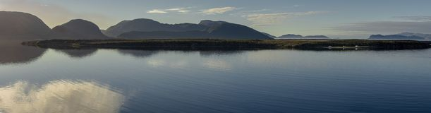 Pano from York harbour, Newfoundland. Panoramic shot of the bay in York Harbour, Newfoundland. On the western side near Corner Brook must say one of the most royalty free stock image