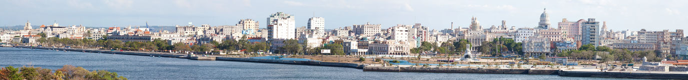 Panoamic image of Havana. Including the bay and the old town Royalty Free Stock Photo
