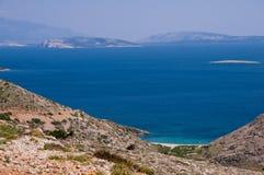 Panoamic viewpoint on way to Stara Baska - Krk Croatia Royalty Free Stock Photo