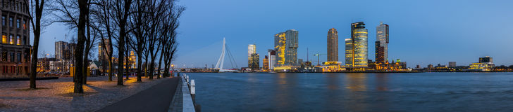Panoaramic View Rotterdam Westerkade Royalty Free Stock Photography