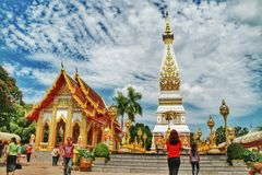 Panom Temple. In Nakorn Panom Thailand Royalty Free Stock Photography
