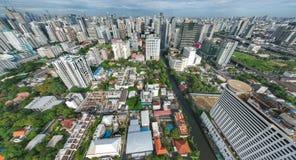 Panomening van de stad van Bangkok Royalty-vrije Stock Foto's