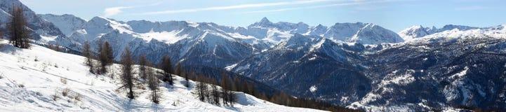 panopama sestriere Италии alps Стоковые Изображения
