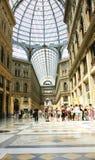 Panorámica de las Galerías Umberto I Stock Images