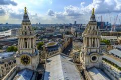 Panorámico aéreo de Londres de St Pauls Cathedral Fotografía de archivo
