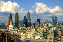 Panorámico aéreo de Londres de St Pauls Cathedral Fotografía de archivo libre de regalías