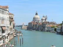 Panorámico de Grand Canal de Venecia Foto de archivo libre de regalías