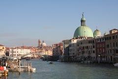 Panorámico de Grand Canal de Venecia Fotos de archivo