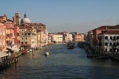 Panorámico de Grand Canal de Venecia Imagen de archivo