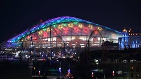 16:9 panorámico de la noche de la arena de Sochi Fisht horizontal Foto de archivo libre de regalías