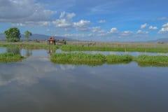 Panorámico de las montañas, lago Inle, Birmania Imagen de archivo