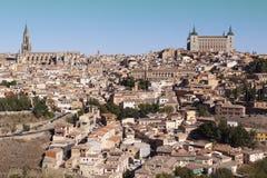 Panorámico de Toledo, con el cielo azul La Mancha de Castilla españa Foto de archivo