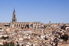 Panorámico de Toledo, con el cielo azul La Mancha de Castilla españa Imagenes de archivo